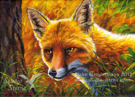 Foxglow - painting for sale, edit by rieke-b