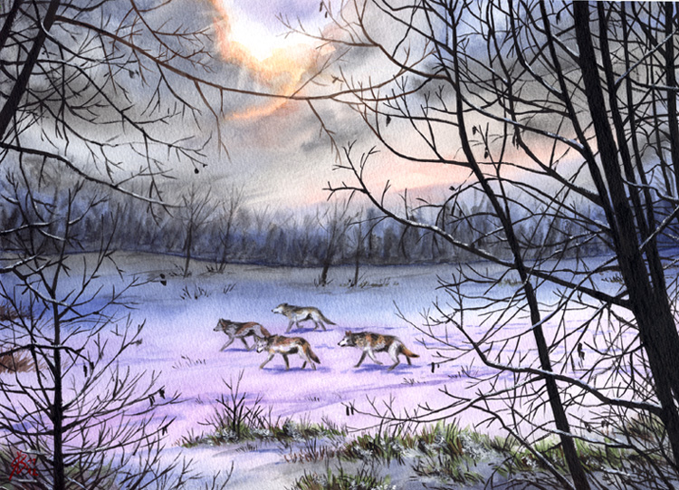 Snow Journey - painting for sale by rieke-b