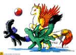 Playful Dragons by rieke-b