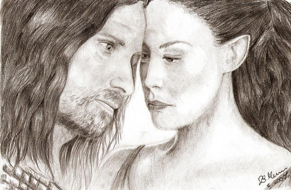 Aragorn and Arwen2 by Elfik777
