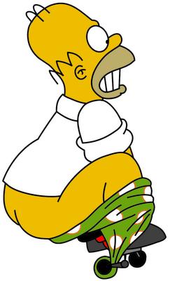 Miembros del PA Simpsonizados parte III Homero_y_la_bicicleta_by_nosequeponer123-d3clji2