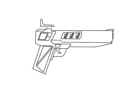 sketch hand gun