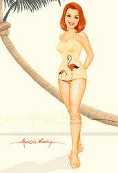Lisa pin up by Aaron Kirby by AtomicKirby