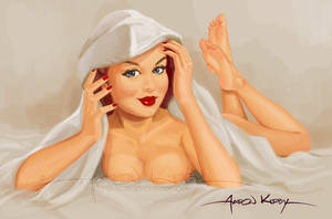 Peekaboo pin up by AtomicKirby