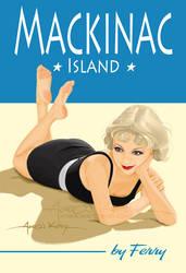Mackinac Island pin up by AtomicKirby