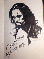 Inktober day 14 - Eric Draven, the Crow