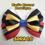Kingdom Hearts Inspired Bow - Sora by aidahayou