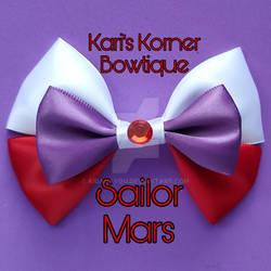 Anime Inspired Bow - Sailor Mars by aidahayou