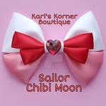 Sailor Moon Inspired Bow - Mini Moon by aidahayou