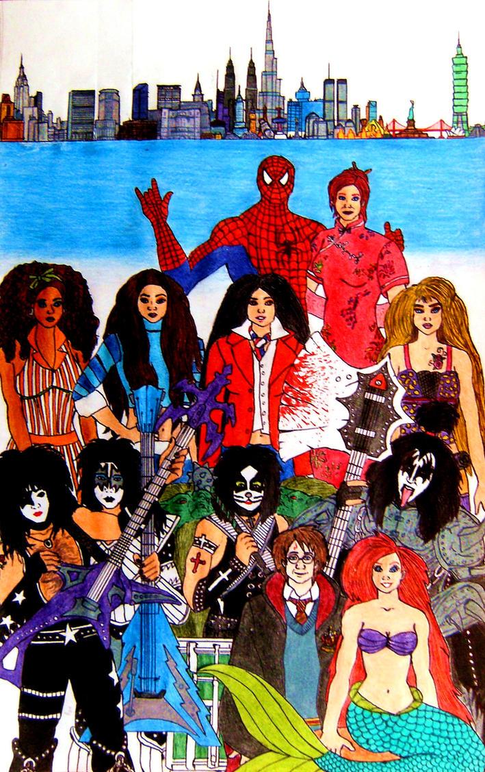 Kiss Rooms NY Movie Poster by SebastianMerman