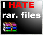 I HATE rar files Stamp by Colhan3000