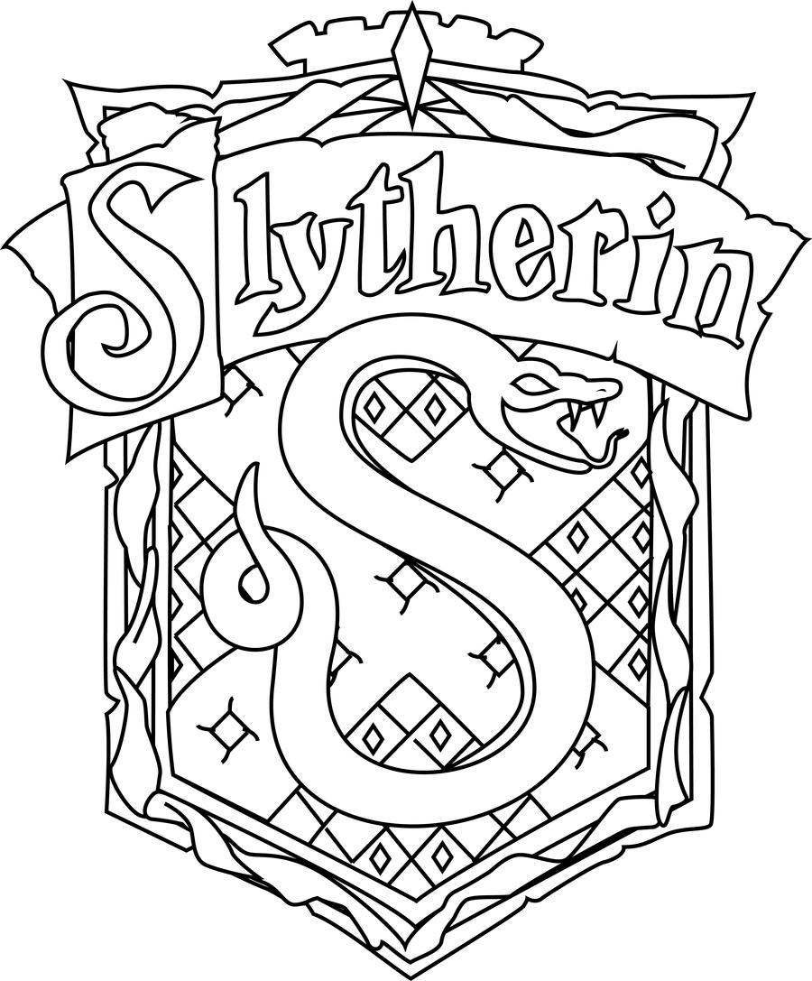 Sonserina hd by fernatriforce on deviantart for Easy harry potter coloring pages