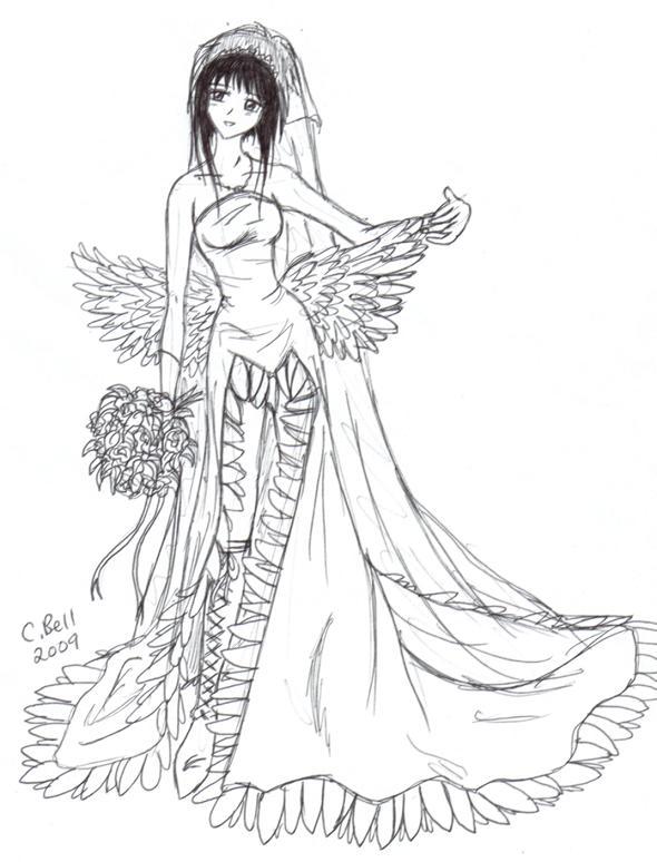 Me In Yunas Wedding Dress By KeeperOfCoffins