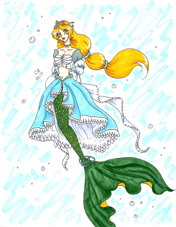 Mermaid Princess Xaithana By Keeperofcoffins On Deviantart Mermaid Princess Drawings