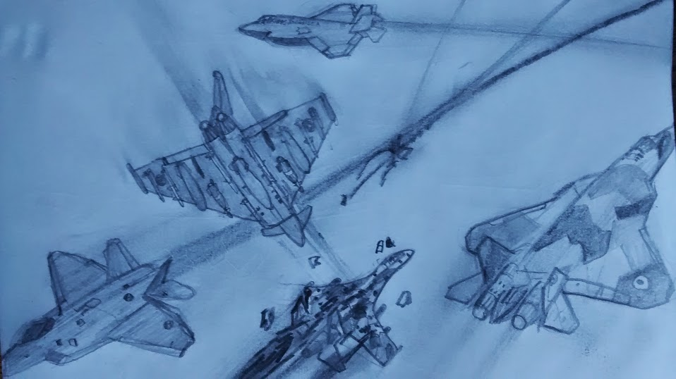Dogfight over Pervinca (Sketch) by TheEvilLolFace