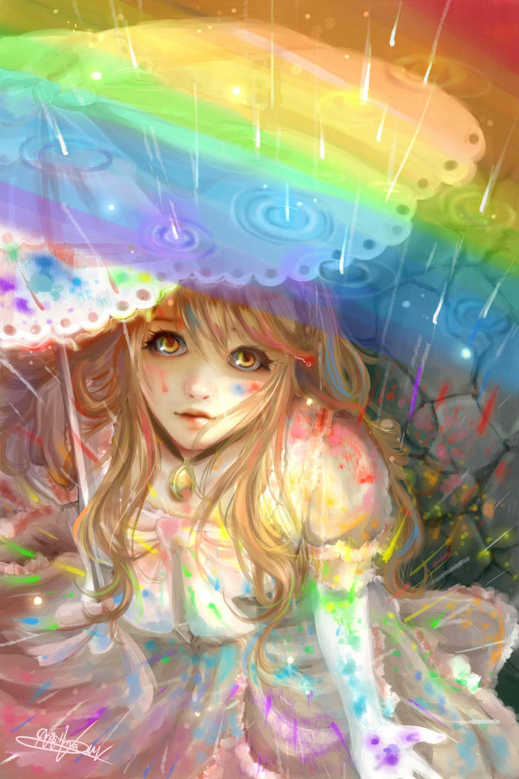 Rainbow colours (edited) by Lunnarisaku