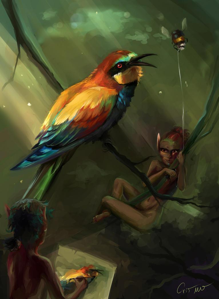 Bee-eater by Lunnarisaku