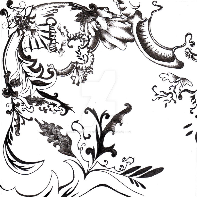 Rococo pattern i by galileemorningstar on deviantart for What is the other name for the rococo style