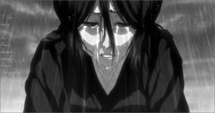 Rukia in the rain. by IchigoKurosakiLuver