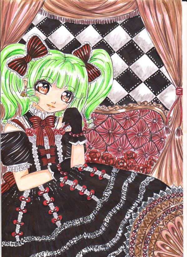 ++gothic lolita midori++ by marmaladematrix