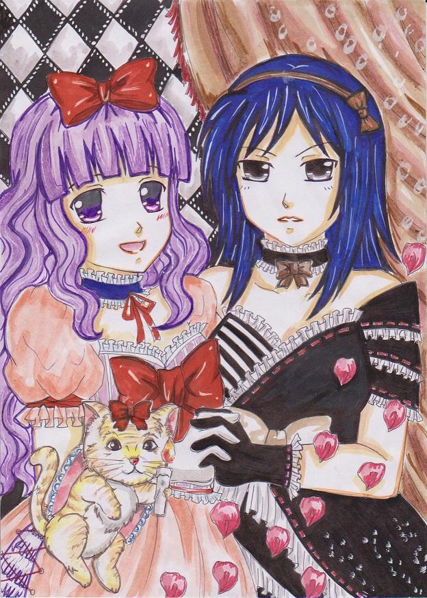 CE:LOLITA AKARI and RAISHIN by marmaladematrix
