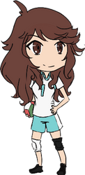 Tooru Oikawa genderbend by starlightjelly