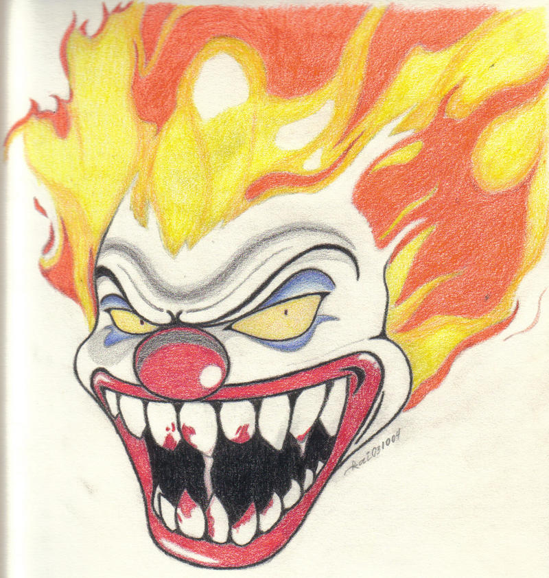 Awesome Drawings Of Evil Clowns