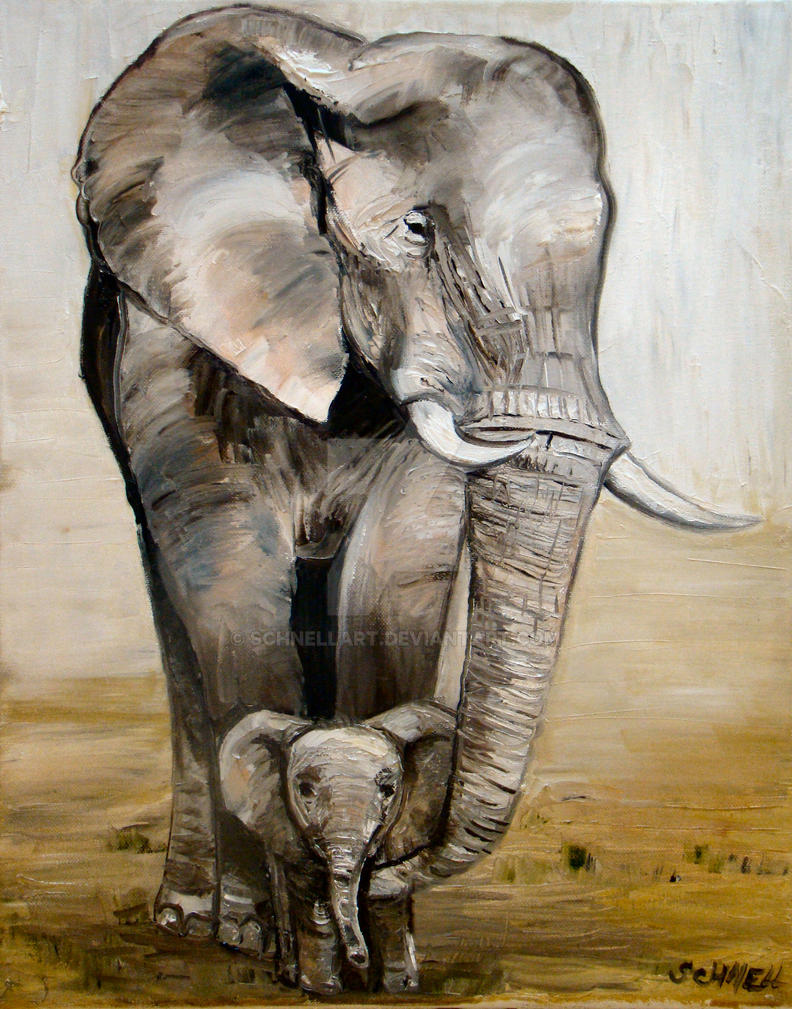 'Elephant Family' by Schnellart