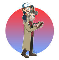 TEAM NERD - Dipper and Grunkle Ford by LPSoulX