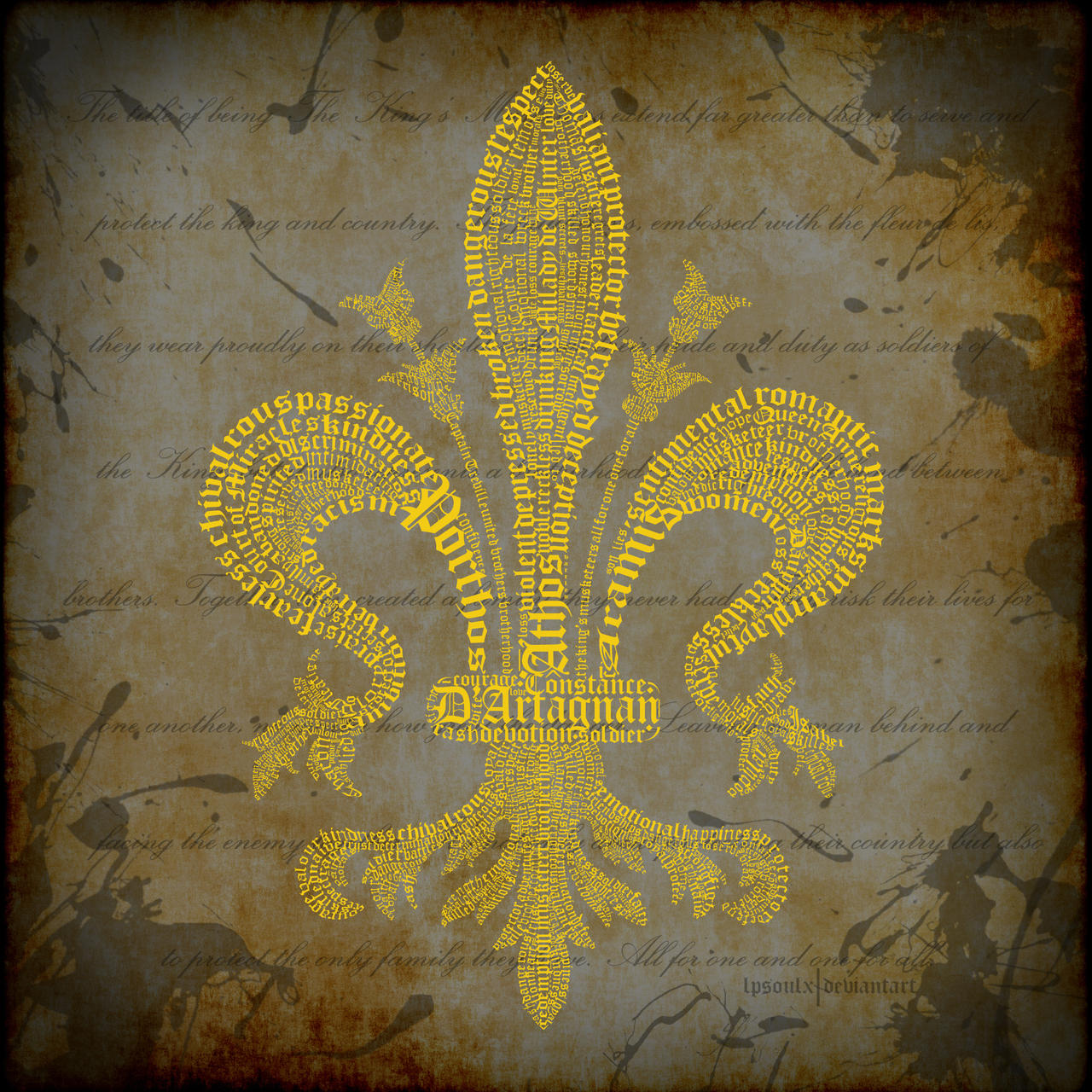 Fleur De Lis Typography The Musketeers By Lpsoulx On Deviantart