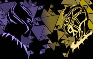 Black Panther vs. Erik Killmonger by LPSoulX