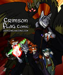 Crimson Flag Poster by Virmir