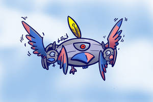 Flying Magnezone by P5ych