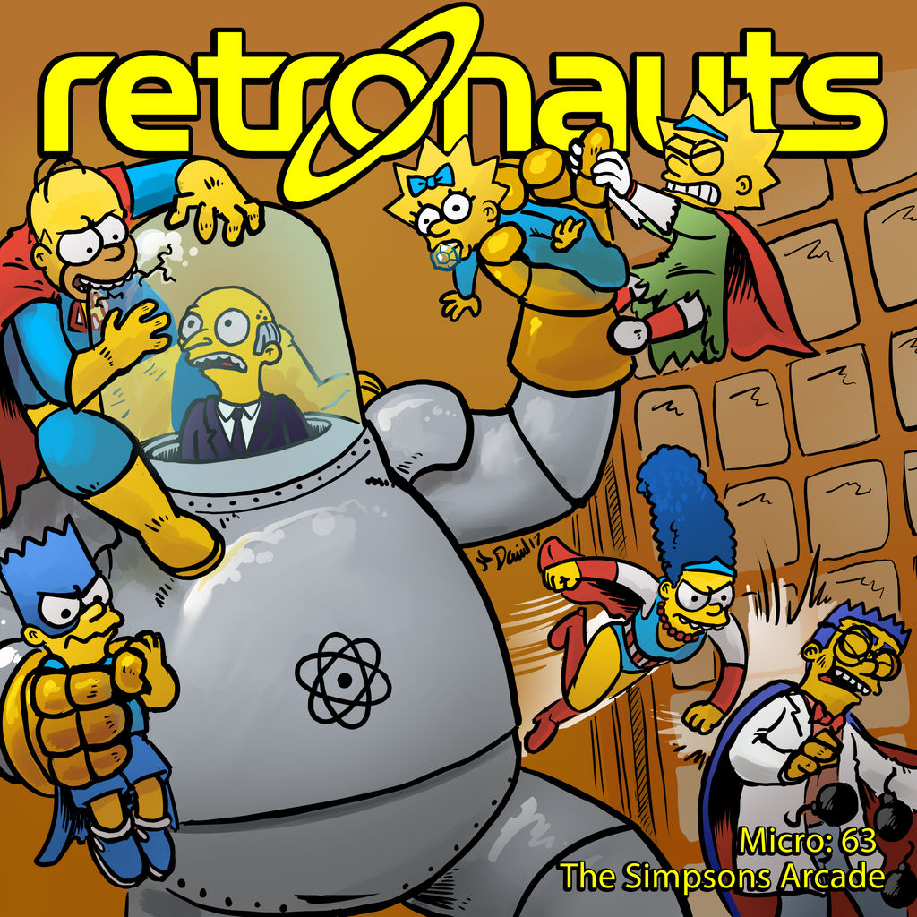 Retronauts Micro 63 The Simpsons Arcade by P5ych