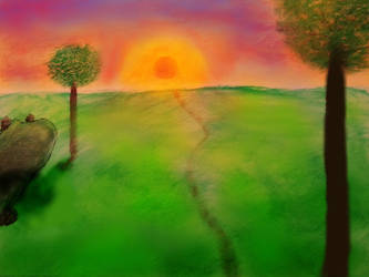 Evening-Sun by oiltocanvas