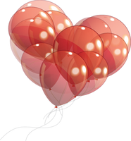 Heart Balloons PNG STOCK by KarahRobinson-Art