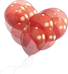 Heart Balloons PNG STOCK