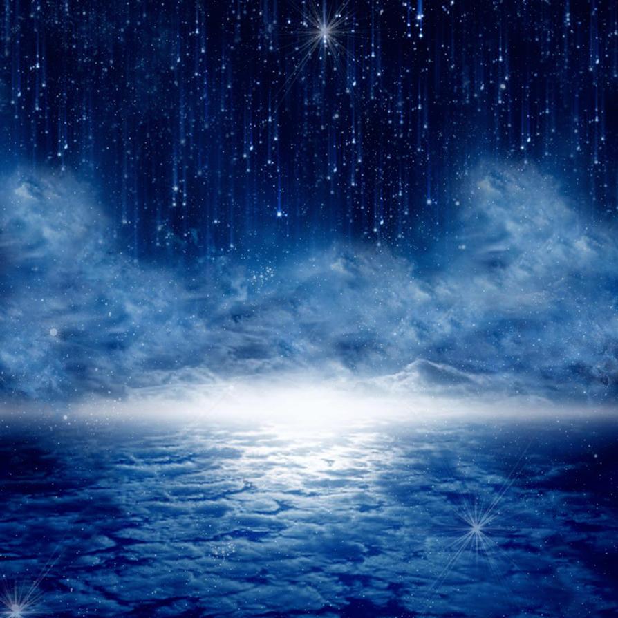 Premade Background -- Starry Night Sky by KarahRobinson-Art
