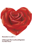 Painted Rose PNG STOCK