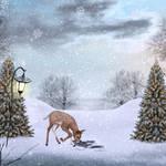 Cute Christmas PREMADE Background
