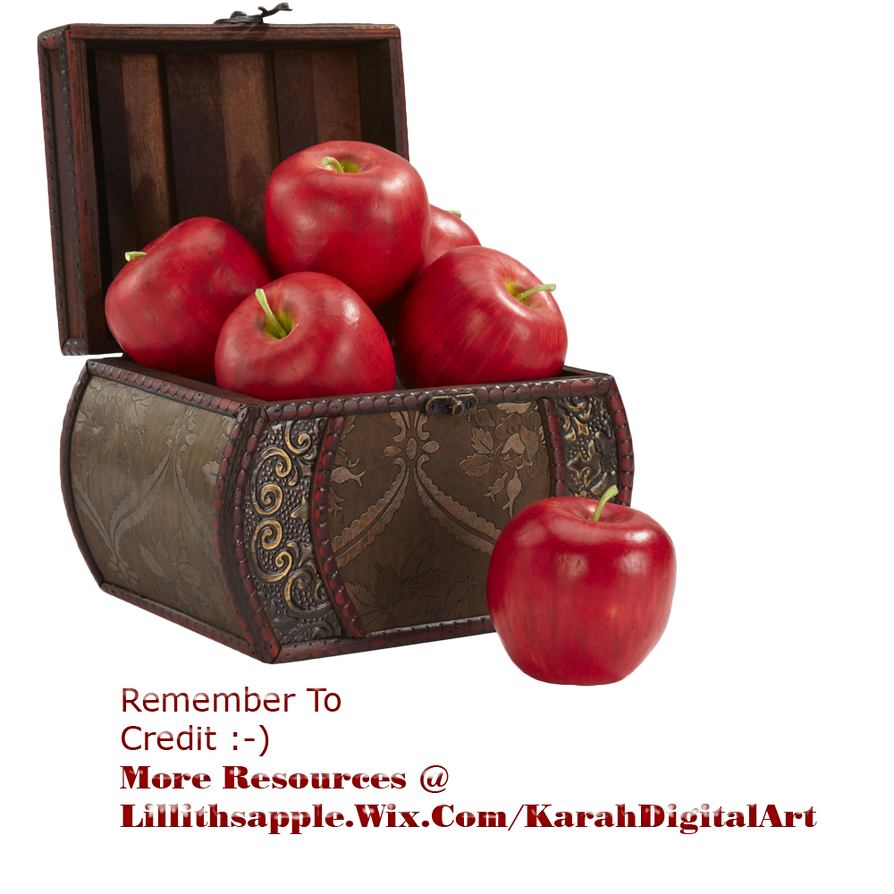 Apple Basket PNG STOCK by KarahRobinson-Art