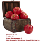 Apple Basket PNG STOCK