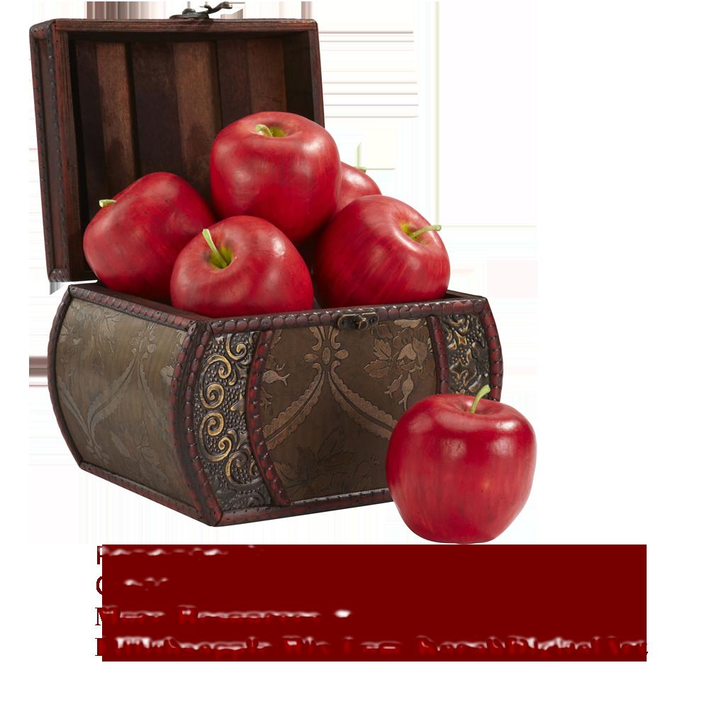Apple Basket PNG STOCK