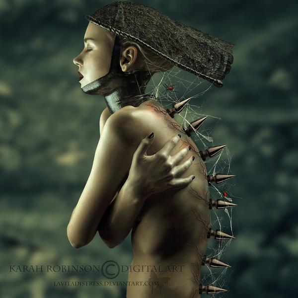 Fractals Edge 1 (Greenish Tone) by KarahRobinson-Art