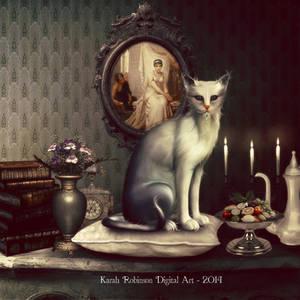 Spoiled Kitty  by KarahRobinson-Art