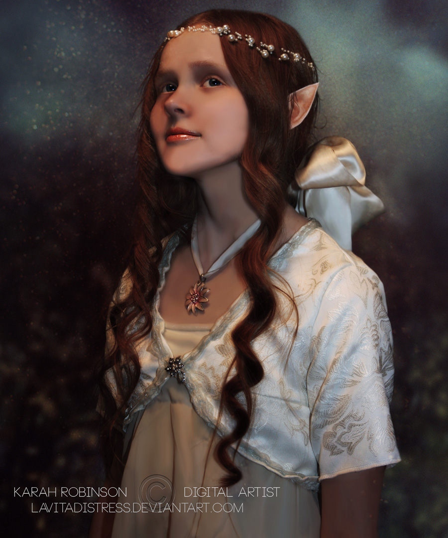 Elf Portrait by KarahRobinson-Art