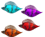 Crystal Seashells PNG STOCK -4 Different Colors-