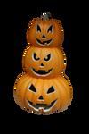 Three Stacked Pumpkins