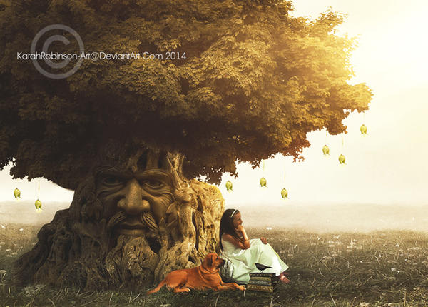 The Wisdom Tree by KarahRobinson-Art