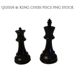 Queen and King Chess Piece PNG STOCK